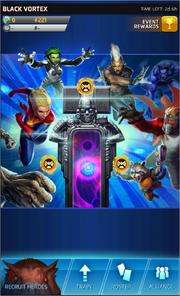 Black Vortex Event Screen