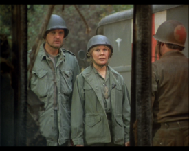 MASH episode-3x19 Hawk and Margaret at Aid Station