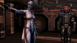 Mars - liara pointing + james