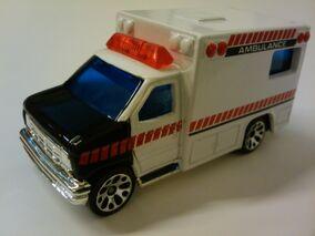Ambulance white and black