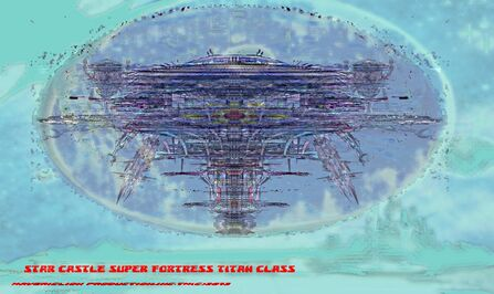 Star Castle Super Fortress Titan Class Bravestarr prototype 1ablue skies .