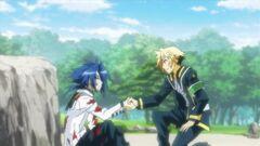 Zenkichi and Munakata clasp hands