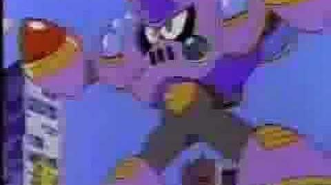 Mega Man cartoon commercial