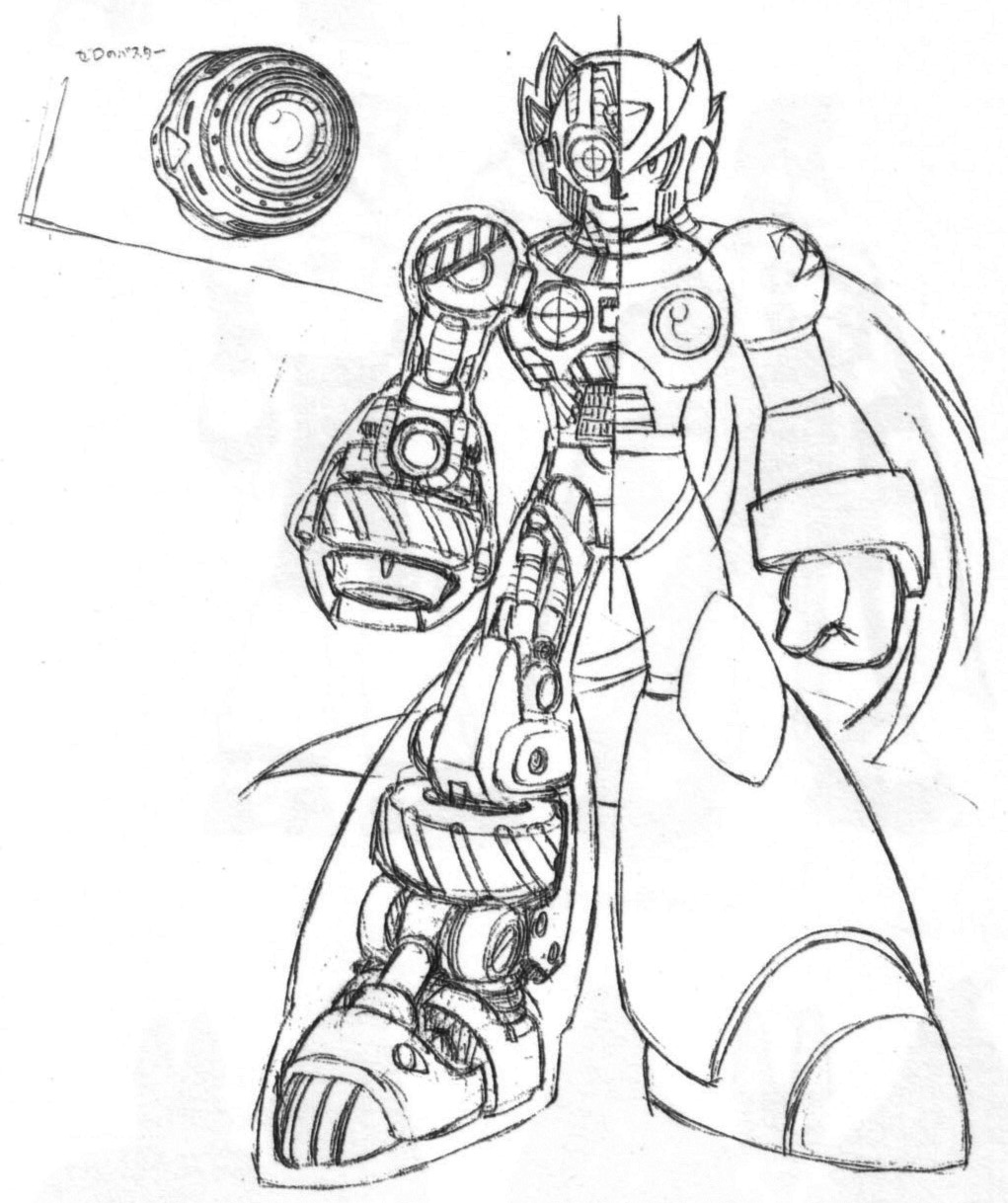 mega man free coloring pages on art