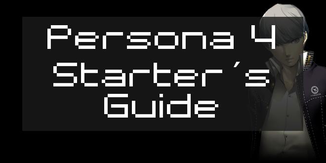 Persona 4 Starter Guide Header