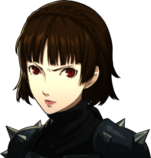 File:P5 portrait of Makoto Nijima's phantom thief outift without mask.png