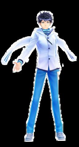 File:SMTxFE Itsuki DLC Costume DS2 Protagonist.png