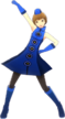 P4D Chie Satonaka deep blue clothes