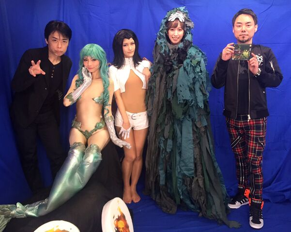File:SMTIV Final Stream December 12th - Mermaid, Lilim, Peallaidh cosplays, and Yamai.jpg
