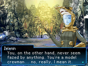 Zelenin compliments the protagonist