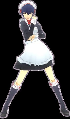 File:P4D Naoto Shirogane maid uniform.png
