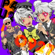 P4AU Illustration Halloween 2016 of Kanji, Naoto and Rise by Rokuro Saito