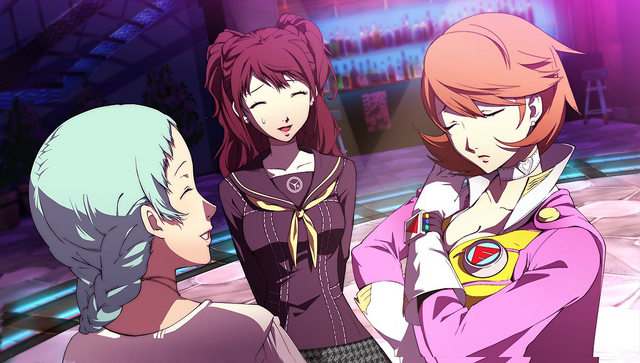 File:P4AU (P4 Mode, Rise,Yukari, and Fuuka getting along).png