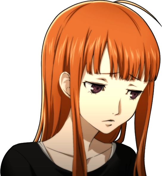 Girl Hairstyle Png : Image p5 portrait of futaba sakura without glasses.png megami