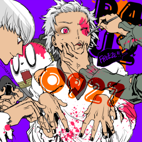 File:P4AU Illustration Halloween 2016 special of Yosuke, Yu, and Teddie by Rokuro Saito.png
