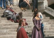 Bradley James and Angel Coulby Behind The Scenes Series 5-1
