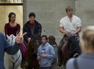 Angel Coulby Colin Morgan and Bradley James Behind The Scenes Series 5