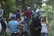 Bradley James Angel Coulby and Katie McGrath Behind The Scenes Series 3-1