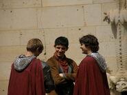 Bradley James Colin Morgan and Alexander Vlahos Behind The Scenes Series 5-6
