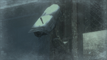 Inactive surveillance camera in the Heliport (Metal Gear Solid 4)