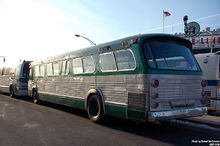 IDENTICAL TO BPT. CT's CR & L LINES' FLEET OF GREEN GM FISHBOWL-'NEW LOOK' BUSES 1960s-1972