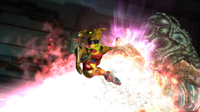 File:Samus SenseMove Queen Metroid flames Room MW Bioweapon Research Centre HD.jpg