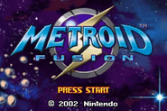 Metroid Fusion Title Screen