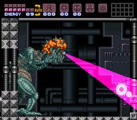 Super Metroid Mother Brain hyperbeam