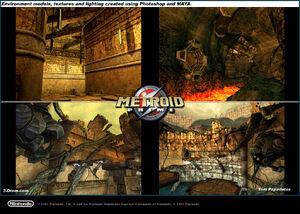 77 Metroid environments