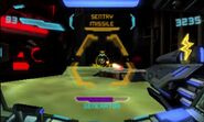 Sentry missile targeting the player