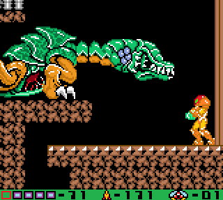 File:Colored metroid II queen battle.png