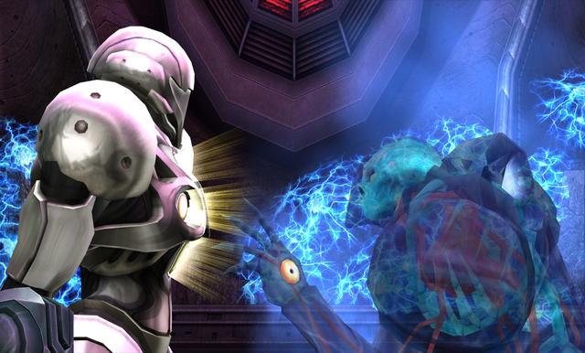 File:Dark Samus approaches Light Suit.png
