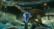 Prime Trilogy Promotional Dark Samus Fortress battle.jpg