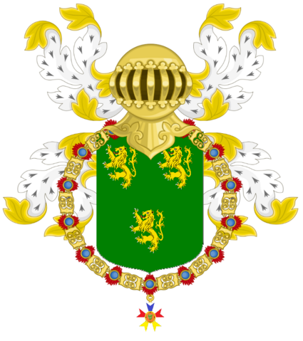 File:Kelson, Prince of Waydina as a Knight of the Golden Dragon Coat of Arms (PNG).png