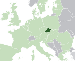 Location of the State of Moravia