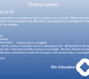 Pyramyd poetry