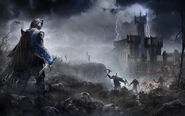 Talion in front of fortress