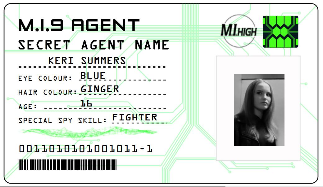 spy id card template - image id card 1 keri m i high wiki