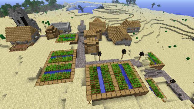 File:Minecraft Desert Village.jpg