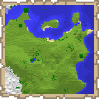 A Map of a section of the Overworld