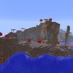 Mushroom  Island with huge mushrooms