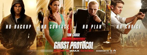 Mission Impossible Ghost Protocol billboard Tom Cruise Paula Patton Simon Pegg Jeremy Renner