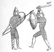 Teppich von Bayeux, Waffenvergleich, kriegswaffen00demmin, p0367.jpg