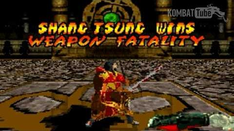 GBA MK TE Shang Tsung Weapon Fatality