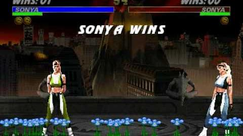 Ultimate Mortal Kombat 3 - Friendship - Sonya
