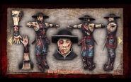 Char damage kung lao a color