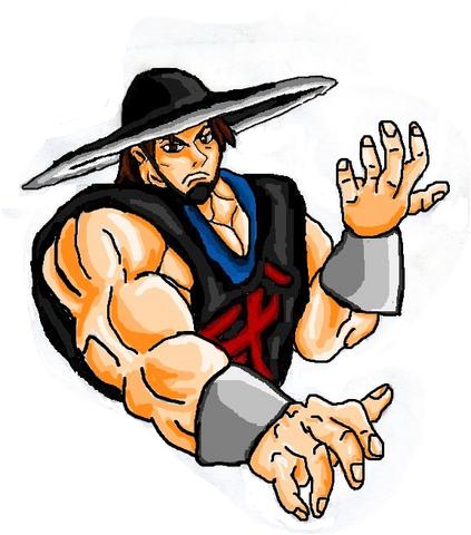 File:Mortal Kombat ll Arcade Art Kung Lao.png