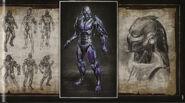 MK9 Artbook - Cyber Sub-Zero