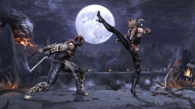 File:Mortal Kombat 2011 Sonya Blade vs Scorpion Pit.jpg