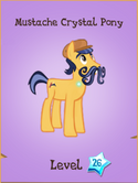 Mustache Crystal Pony Store Locked